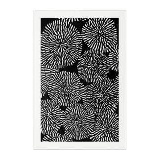 Impresión Acrílica ilustraciones negras de la flor