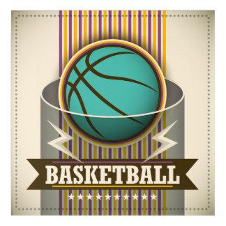 Impresión Acrílica Juego de pelota del deporte del baloncesto fresco