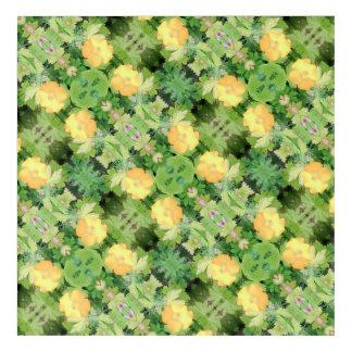 Impresión Acrílica La flor amarilla Dapple la diagonal cosechada 755