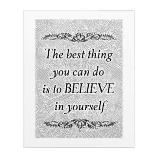Impresión Acrílica La mejor cosa - Quote´s positivo