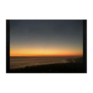 Impresión Acrílica Laguna Beach, el panel de la puesta del sol de CA