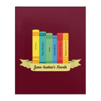 Impresión Acrílica Las novelas de Jane Austen III