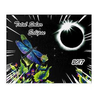 Impresión Acrílica Libélula observando el eclipse solar total 2017