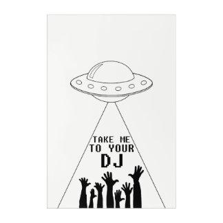 Impresión Acrílica Lléveme a su poster de DJ