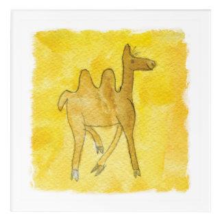 Impresión Acrílica Los dibujos del Tinca. Acuarela infantil con el