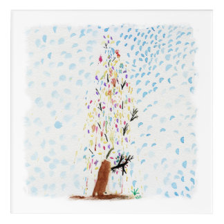 Impresión Acrílica Los dibujos del Tinca. Árbol de navidad