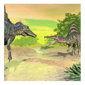 Impresión Acrílica Lucha de los dinosaurios de Spinosaurus - 3D