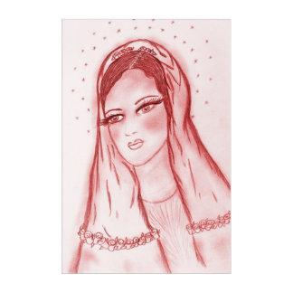 Impresión Acrílica Luz de las estrellas Maria en rojo