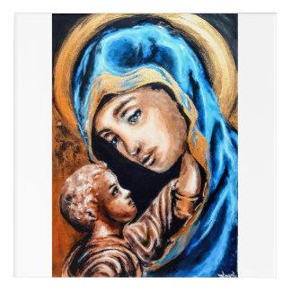 Impresión Acrílica Madonna y niño de oro