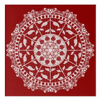 Impresión Acrílica Mandala de la frambuesa