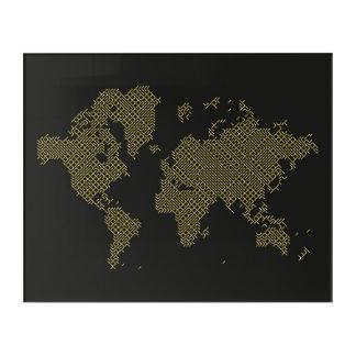 Impresión Acrílica Mapa del mundo de Digitaces