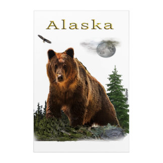Impresión Acrílica Mercancía del estado de Alaska