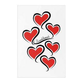 Impresión Acrílica Mi tarjeta del día de San Valentín del amor