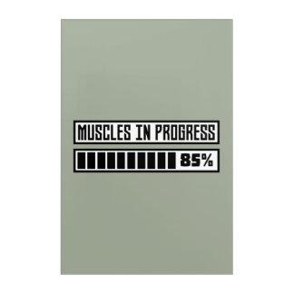 Impresión Acrílica Músculos en el entrenamiento Z1k6x de los progess