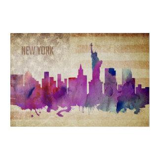Impresión Acrílica New York City, horizonte de la ciudad de la