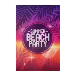 Impresión Acrílica Noche del fiesta de la playa del verano