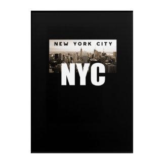 Impresión Acrílica NYC New York City. Horizonte. América, los