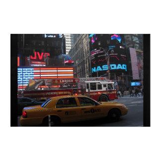Impresión Acrílica Opinión de la calle del Times Square