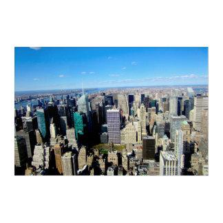Impresión Acrílica Opinión de la ciudad de NYC del Empire State