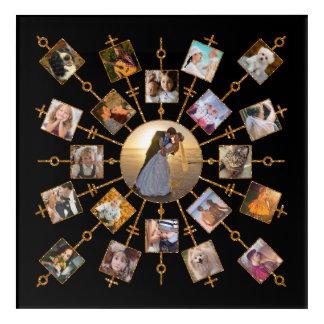 Impresión Acrílica Oro negro bonito de las imágenes del collage 21 de