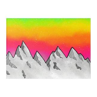 Impresión Acrílica Paisaje de la escena de la montaña