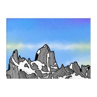 Impresión Acrílica Paisaje de la montaña de Monte Fitz Roy