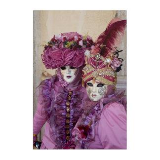 Impresión Acrílica Pares en el traje del carnaval, Venecia