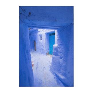 Impresión Acrílica Pasillo azul de la ciudad