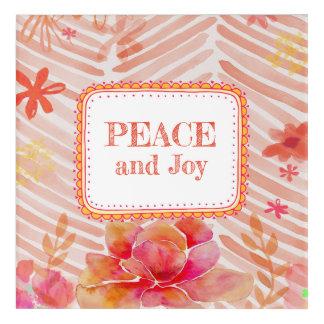 Impresión Acrílica Paz y alegría