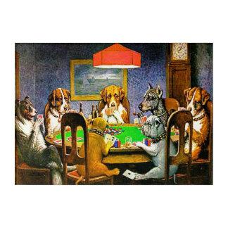 Impresión Acrílica Perros que juegan el póker