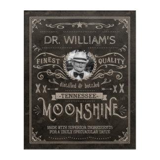 Impresión Acrílica Personalizado Brown del vintage de la medicina del