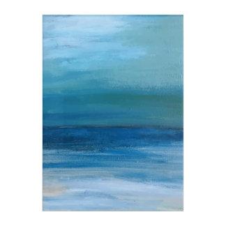 Impresión Acrílica Pintura de la onda del océano y de la playa