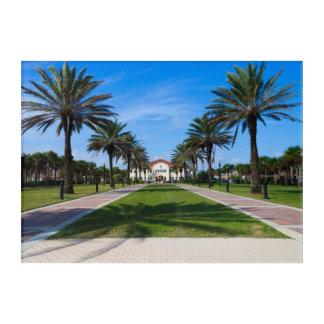 Impresión Acrílica Plaza de Latham, playa de Jacksonville, la Florida