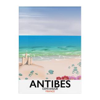 Impresión Acrílica Poster de la playa de Antibes Francia