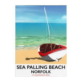 Impresión Acrílica Poster de la playa de Norfolk de la playa de