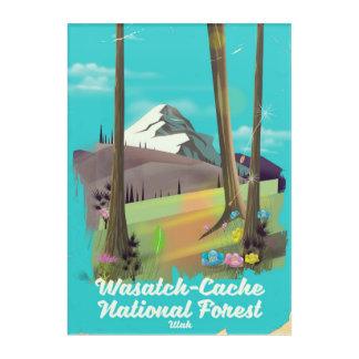 Impresión Acrílica Poster de las vacaciones de Utah del bosque del