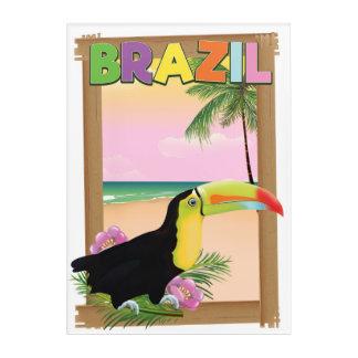 Impresión Acrílica Poster del día de fiesta de la playa del Brasil