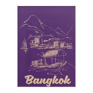 Impresión Acrílica Poster del viaje de Bangkok, Tailandia