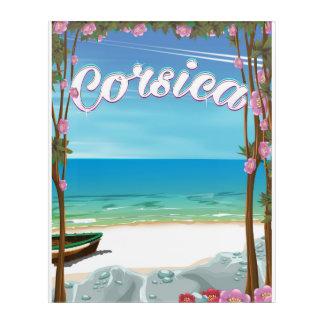 Impresión Acrílica Poster del viaje de la playa de Córcega