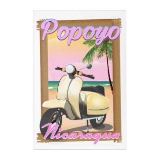 Impresión Acrílica Poster del viaje de la playa de Poneloya Nicaragua