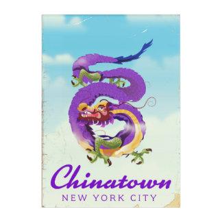 Impresión Acrílica Poster del vintage de Chinatown New York City