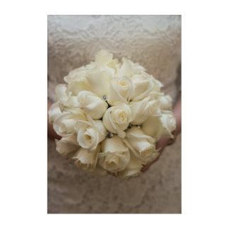 Impresión Acrílica Ramo nupcial blanco elegante