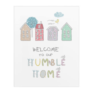 Impresión Acrílica Recepción humilde ID372 del hogar