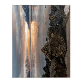 Impresión Acrílica Salida del sol del invierno sobre el brazo Alaska