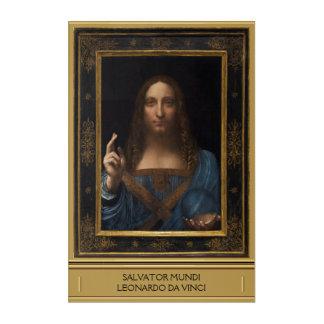 Impresión Acrílica Salvator Mundi de Leonardo da Vinci circa 1500