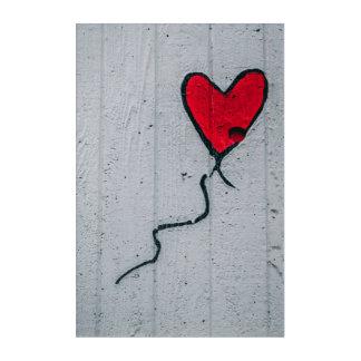 Impresión Acrílica Siga su corazón