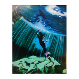 Impresión Acrílica Sirena subacuática de Juan Fermín