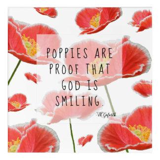 Impresión Acrílica Sonrisa floral de dios de la amapola roja