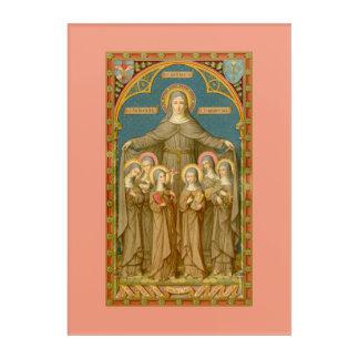 """Impresión Acrílica St. Clare de Assisi y de las monjas (SAU 27) 10"""""""