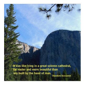 Impresión Acrílica Teddy Roosevelt en Yosemite